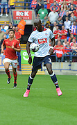 Prince on the ball for bolton  during the Sky Bet Championship match between Bolton Wanderers and Nottingham Forest at the Macron Stadium, Bolton, England on 22 August 2015. Photo by Mark Pollitt.