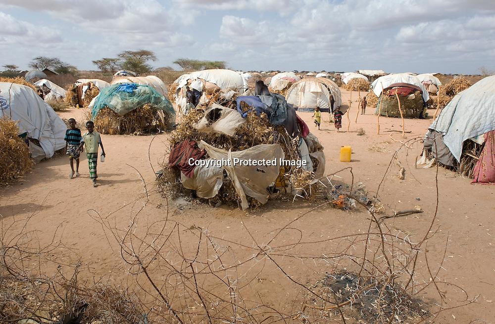 Homes in the Dagahaley refugee camp in Dadaab, Kenya, August 27, 2011.