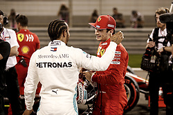 March 30, 2019 - Sakhir, Bahrain - Motorsports: FIA Formula One World Championship 2019, Grand Prix of Bahrain, ..#44 Lewis Hamilton (GBR, Mercedes AMG Petronas Motorsport), #16 Charles Leclerc (MCO, Scuderia Ferrari Mission Winnow) (Credit Image: © Hoch Zwei via ZUMA Wire)