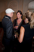 SIMON COSTIN; TANYA COLERIDGE; MAIA HIRST, Dinner to mark 50 years with Vogue for David Bailey, hosted by Alexandra Shulman. Claridge's. London. 11 May 2010 *** Local Caption *** -DO NOT ARCHIVE-© Copyright Photograph by Dafydd Jones. 248 Clapham Rd. London SW9 0PZ. Tel 0207 820 0771. www.dafjones.com.<br /> SIMON COSTIN; TANYA COLERIDGE; MAIA HIRST, Dinner to mark 50 years with Vogue for David Bailey, hosted by Alexandra Shulman. Claridge's. London. 11 May 2010