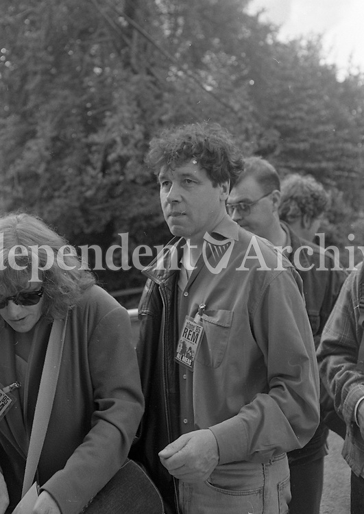 Actor Stephen Rea at the 1995 Slane concerts, 22/07/1995 (Part of the Independent Newspapers Ireland/NLI collection).