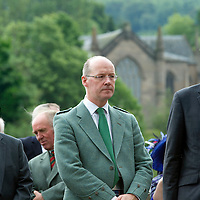 HM The Queen and Duke of Edinburgh Diamond Jubilee Tour in Perth....06.07.12<br /> Cllr Ian Miller, John Swinney MSP and Michael Moore Secretary of State for Scotland waiting for the Queen to arrive.<br /> Picture by Graeme Hart.<br /> Copyright Perthshire Picture Agency<br /> Tel: 01738 623350  Mobile: 07990 594431