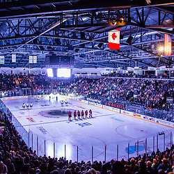 KENT, WASHINGTON - APRIL 28: ShoWare Center during the Western Hockey League Conference Finals in Kent, Washington. (Photo by Christopher Mast via AP Images)