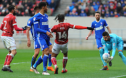 Bartosz Bialkowski of Ipswich Town saves a shot from Bobby Reid of Bristol City - Mandatory by-line: Nizaam Jones/JMP - 17/03/2018 - FOOTBALL - Ashton Gate Stadium- Bristol, England - Bristol City v Ipswich Town - Sky Bet Championship
