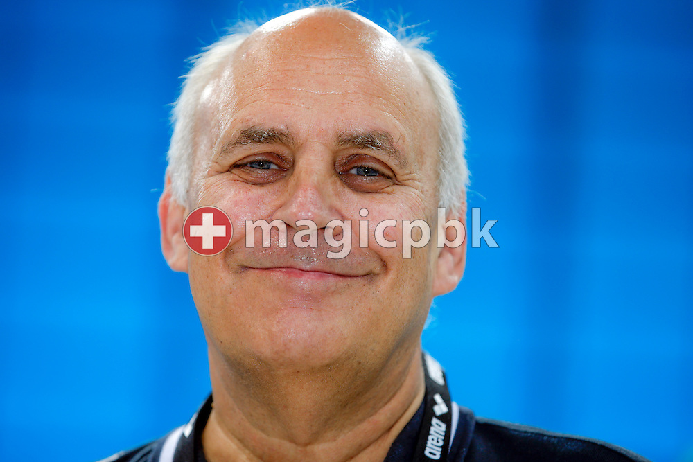 Danish national head coach Nick JUBA of Great Britain poses for a photo during the LEN European Swimming Championships held at the London Aquatics Centre in London, Great Britain, Saturday, May 21, 2016. (Photo by Patrick B. Kraemer / MAGICPBK)