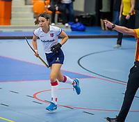 ROTTERDAM -  Carmel Bosch (SCHC) heeft een strafbal gemist, dames Amsterdam-SCHC.   ,hoofdklasse competitie  zaalhockey.   COPYRIGHT  KOEN SUYK