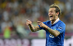 24.06.2012, Olympia Stadion, Kiew, UKR, UEFA EURO 2012, England vs Italien, Viertelfinale, im Bild Gioia Alessandro DIAMANTI (Italia) // during the UEFA Euro 2012 Quarter Final Match between Enland and Italy at the Olympic Stadium, Kiev, Ukraine on 2012/06/24. EXPA Pictures © 2012, PhotoCredit: EXPA/ Insidefoto/ Alessandro Sabattini..***** ATTENTION - for AUT, SLO, CRO, SRB, SUI and SWE only *****
