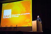 """School of the Art Institute of Chicago, President Wellington """"Duke"""" Reiter, January 11, 2009."""