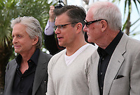 Michael Douglas, Matt Damon and Producer Jerry Weintraub. at the 'Behind The Candelabra' film photocall at the Cannes Film Festival  Tuesday 21 May 2013