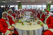 Father Christmas diners at FGR during the EFL Sky Bet League 2 match between Forest Green Rovers and Luton Town at the New Lawn, Forest Green, United Kingdom on 16 December 2017. Photo by Shane Healey.