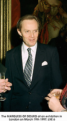 The MARQUESS OF DOURO at an exhibition in London on March 19th 1997.LXE 6