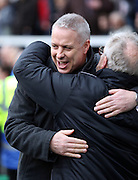 Kit Symons pre kick off during the Sky Bet Championship match between Fulham and Derby County at Craven Cottage, London, England on 28 February 2015. Photo by Matthew Redman.