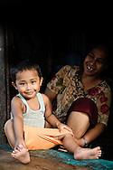 Philippines, Tawi Tawi. Mother and child from Bongao, capital of Tawi Tawi province.