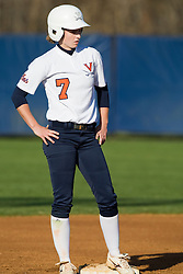 Virginia left fielder Lindsey Preuss (7).  The Virginia Cavaliers softball team fell to the Georgetown Hoyas 4-0 at the University of Virginia's The Park in Charlottesville, VA on March 20, 2008.