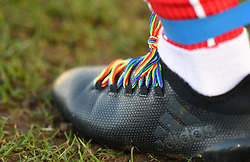 Bristol City Women player's boot with rainbow laces - Mandatory by-line: Paul Knight/JMP - 17/11/2018 - FOOTBALL - Stoke Gifford Stadium - Bristol, England - Bristol City Women v Liverpool Women - FA Women's Super League 1