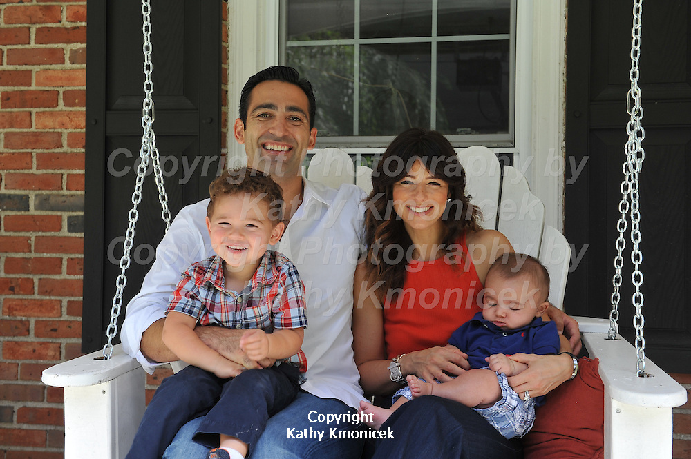 Jamie & Josh Dardashtian with their children, Max- 2 1/2 and Miles - 3 1/2 months at their home at 285 Syosset Woodbury Road on Saturday, August 17, 2013 in Woodbury, N.Y. Photo by Kathy Kmonicek