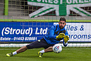 Forest Green Rovers goalkeeper Sam Russell(23) warming up during the EFL Sky Bet League 2 match between Forest Green Rovers and Barnet at the New Lawn, Forest Green, United Kingdom on 5 August 2017. Photo by Shane Healey.