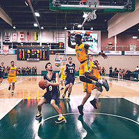 2nd year guard, Nigel Warden (9) of the Regina Cougars during the Men's Basketball Home Game on Fri Nov 02 at Centre for Kinesiology,Health and Sport. Credit: Arthur Ward/Arthur Images