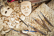 Dintorni di Ubud Bali 2015 - Gli strumenti variano di dimensione a seconda della fase di lavorazione e i dettagli da realizzare