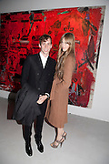JOHNNY BORRELL; EDIE CAMPBELL, Private view of the exhibition ' Mother of Pouacrus' by Nicholas Pol. Presented by Vladimir Restoin Roitfeld. The Old Dairy, Wakefield St.  London. 14 October 2010. <br /> <br /> -DO NOT ARCHIVE-© Copyright Photograph by Dafydd Jones. 248 Clapham Rd. London SW9 0PZ. Tel 0207 820 0771. www.dafjones.com.