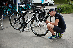 Trek Drops prepare for Lotto Thuringen Ladies Tour 2018 - Stage 7, an 18.7 km time trial starting and finishing in Schmölln, Germany on June 3, 2018. Photo by Sean Robinson/velofocus.com