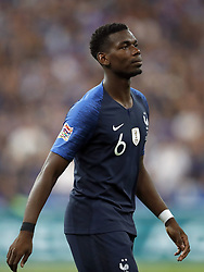 Paul Pogba of France during the UEFA Nations League A group 1 qualifying match between France and The Netherlands on September 09, 2018 at Stade de France in Saint Denis,  France