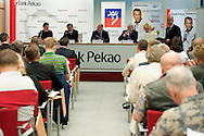 Press conference before tennis tournament Pekao Szczecin Open 2013 in Pekao Bank in Warsaw..<br /> <br /> Poland, Warsaw, September 09, 2013<br /> <br /> Picture also available in RAW (NEF) or TIFF format on special request.<br /> <br /> For editorial use only. Any commercial or promotional use requires permission.<br /> <br /> Photo by © Adam Nurkiewicz / Mediasport