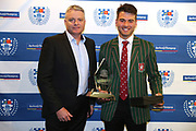Royal Wolf scholarship winner John Cooper of Westlake BHS during the Auckland Rugby awards night held at Eden Park on the 25th of October 2017. <br /> Credit; Peter Meecham/ www.photosport.nz