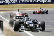 A1 Team New Zealand and driver Chris Van Der Drift in action during a pit stop in the A1 GP Sprint Race, Taupo, New Zealand, Sunday 25 January 2009. Photo: Andrew Cornaga/PHOTOSPORT
