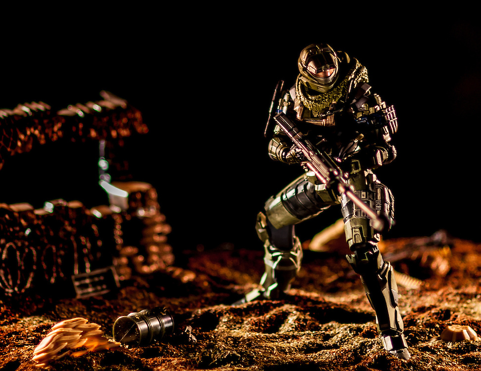 In This Twilight, Series of toy photography by Ivan Guzman.
