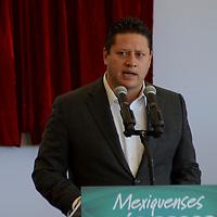 Lerma, México (Julio 21, 2016).- César Nomar Gómez Monge, Secretario de Salud estatal durante la entrega de la rehabilitación del Centro Especializado de Atención Primaria a la Salud en Huitzizilapan.  Agencia MVT / José Hernández