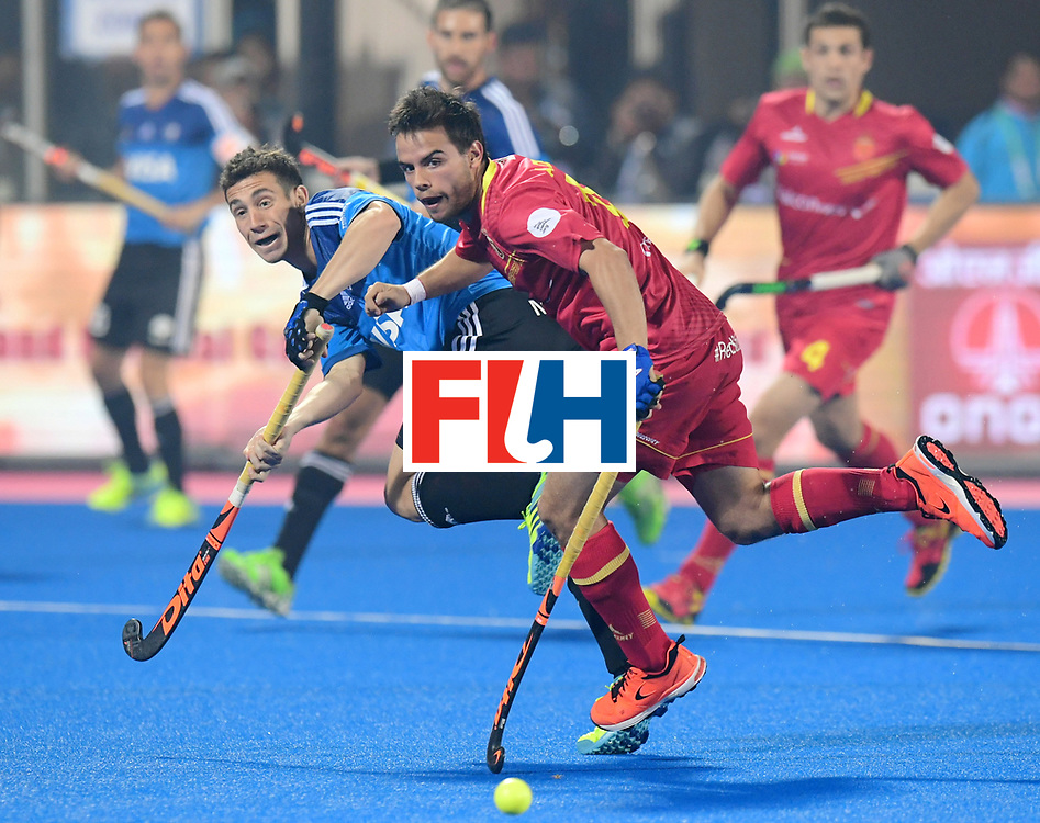 Odisha Men's Hockey World League Final Bhubaneswar 2017<br /> Match id:11<br /> Argentina v Spain<br /> Foto: Alejandro de Frutos (Esp) <br /> COPYRIGHT WORLDSPORTPICS FRANK UIJLENBROEK
