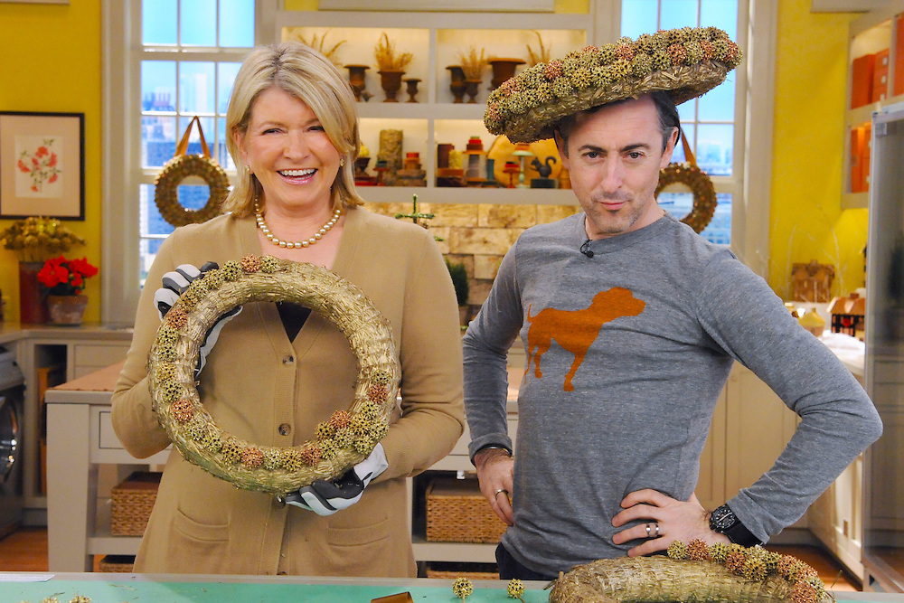 "Martha Stewart and Alan Cumming are seen during the production of ""The Martha Stewart Show"" in New York on Wednesday, December 1, 2010. Photo: David E. Steele/The Martha Stewart Show"