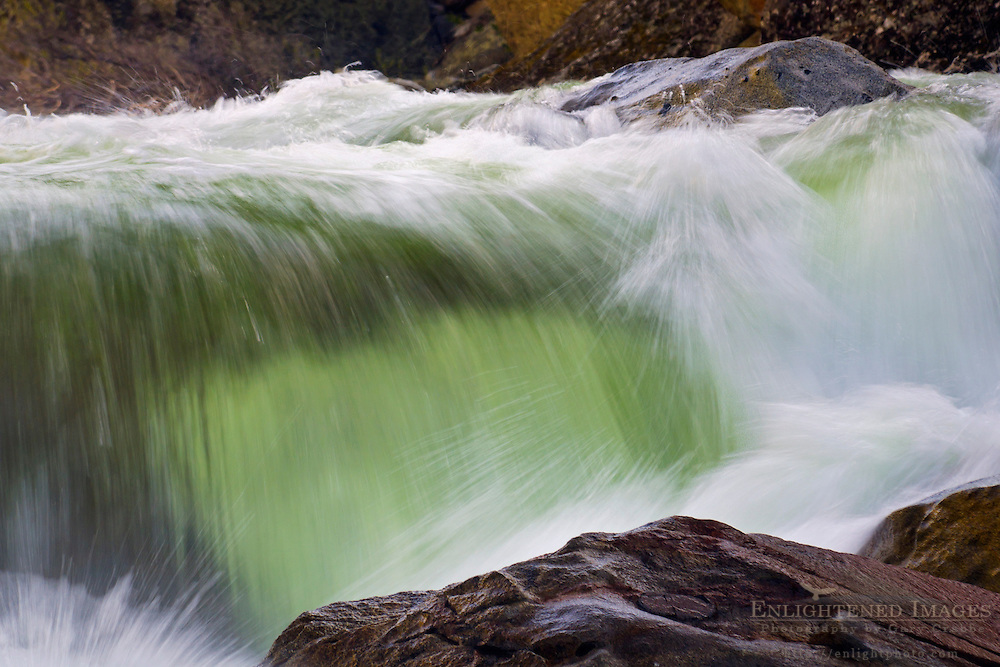 Merced River in spring, Merced River Gorge, Yosemite National Park, California