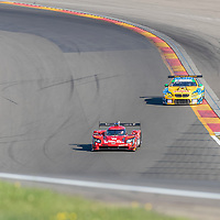 The Whelen Engineering Racing Cadillac DPI car practice for the Sahlen's Six Hours At The Glen at Watkins Glen International Raceway in Watkins Glen, New York.