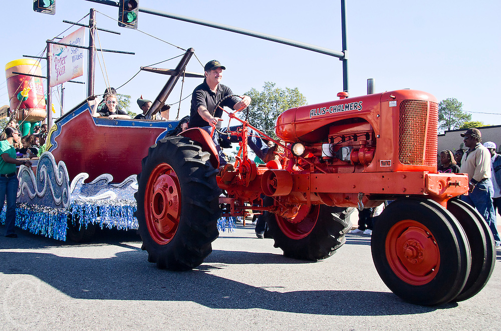 Local residents participate in the parade at the Sylvester, Ga., Peanut Festival on October 15, 2011. Sylvester's peanut agriculture market produces the most in the world.