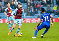 Football-2017/2018 Premier League - Burnley v  Everton <br /> <br /> Johann Guomundsson of Burnley and Theo Walcott of Everton at Turf Moor.<br /> <br /> COLORSPORT