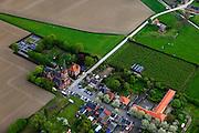 Belgie, Zeeuw-Vlaanderen, Prosper, 09-05-2013; tweelingdorpje Prosperdorp - Prosperdpolder met Sint-Engelbertuskerk.luchtfoto (toeslag op standard tarieven).aerial photo (additional fee required).copyright foto/photo Siebe Swart