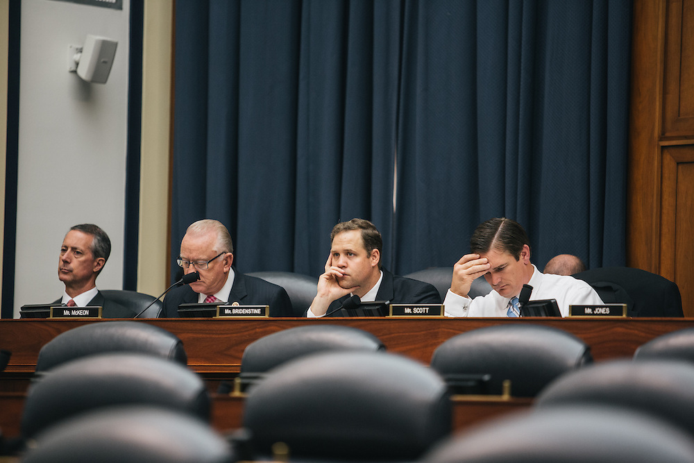 Congressman Jim Bridenstine listens to witnesses during a House Armed Services Committee  <br /> Subcommittee meeting about the attacks on Benghazi last year.