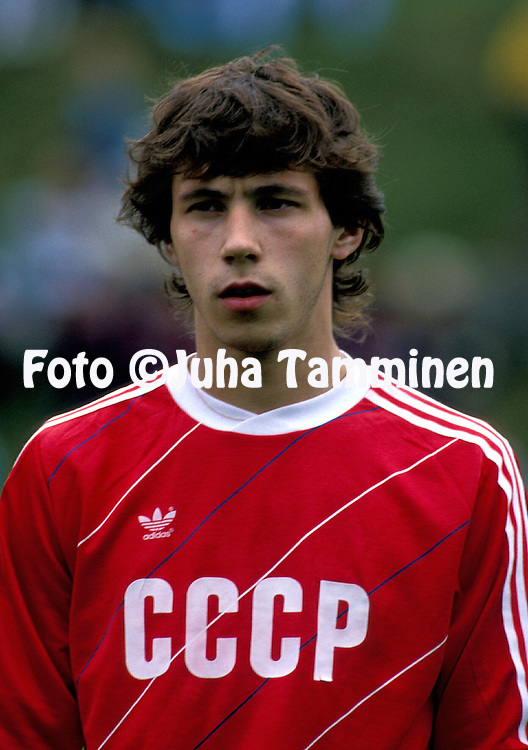 16.08.1988, EURij?nsuo, Rauma, Finland..Under-21 Friendly International match, Finland v USSR.Alexander Mostovoi - USSR U-21.©Juha Tamminen