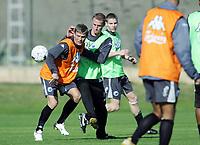 Fotball<br /> La Manga 2006<br /> 01.02.2006<br /> Trening FC København<br /> Foto: Morten Olsen, Digitalsport<br /> <br /> Brede Hangeland og Markus Allbäck