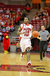 06 January 2007: Domintrix Johnson. The Sycamores of Indiana State University topped the Redbirds home 54 - 50 inside Redbird Arena in Normal Illinois on the campus of Illinois State University.<br />
