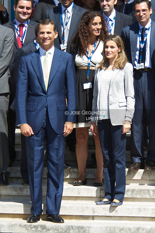 Prince Felipe and Princess Letizia attend the Opening of '25th Meeting of Telecommunications' at Palacio de la Magdalena in Santander, Spain