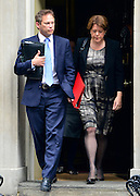 © Licensed to London News Pictures. 18/09/2012. Westinster, UK LEFT: Conservative Chairman Grant Shapps and Culture Secretary Maria Miller. Cabinet meeting today in Downing Street 18 September 2012. Photo credit : Stephen Simpson/LNP