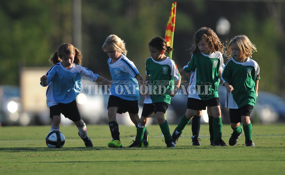 Oxford Park Commission soccer action at FNC Park in Oxford, Miss. on Thursday, September 22, 2011.