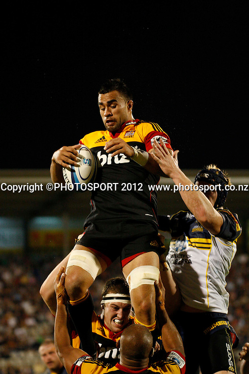 Chiefs Liam Messam in action during their game at Baypark Stadium, Mt Maunganui, New Zealand. Friday,16 March 2012. Photo: Dion Mellow/photosport.co.nz