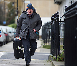 © Licensed to London News Pictures. 21/02/2016. London, UK. Mayor of London BORIS JOHNSON returns to his London home the day after David Cameron announced  a referendum on British membership of the EU on June 23rd. Photo credit: Ben Cawthra/LNP