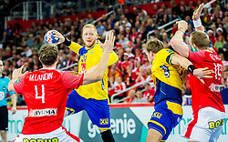 Jim Gottfridsson (SWE) during handball match between National teams of Denmark and Sweden in Half Final match of Men's EHF EURO 2018, on January 26, 2018 in Arena Zagreb, Zagreb, Croatia. Photo by Ziga Zupan / Sportida