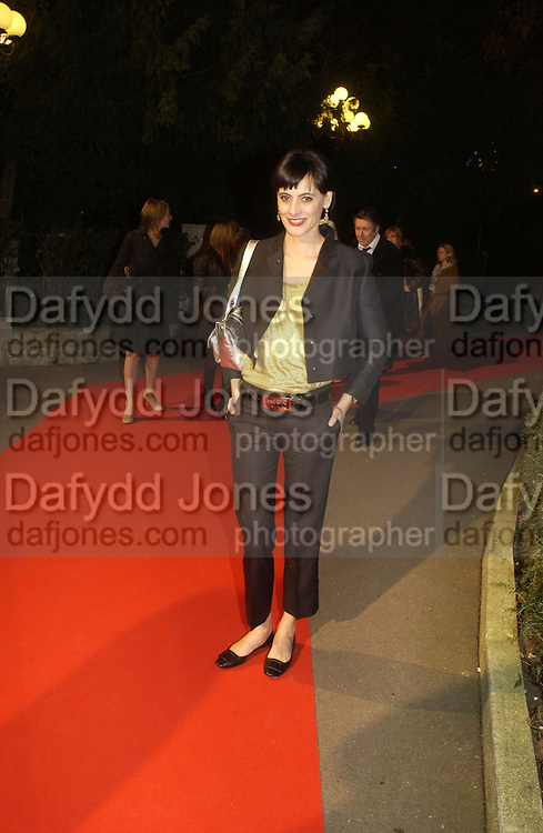 Ines de la Fressange. The Sidaction Party raising funds to treat AIDS, held during Haute Couture week  Spring/Summer 2006 at the Pavillon D'Armenonville, Bois de Boulogne.  Paris.  January 25 2006.  ONE TIME USE ONLY - DO NOT ARCHIVE  © Copyright Photograph by Dafydd Jones 66 Stockwell Park Rd. London SW9 0DA Tel 020 7733 0108 www.dafjones.com