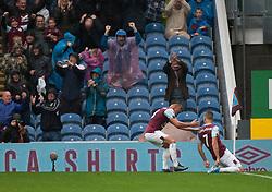 Johann Gudmundsson of Burnley (R) celebrates after scoring his sides third goal - Mandatory by-line: Jack Phillips/JMP - 10/08/2019 - FOOTBALL - Turf Moor - Burnley, England - Burnley v Southampton - English Premier League